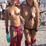 burning man topless blonds