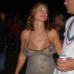 lowcut sheer dress