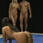 nude wrestlers threesome
