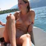 nude boating swinger wife