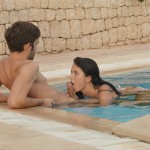 pool fellatio swinger couple